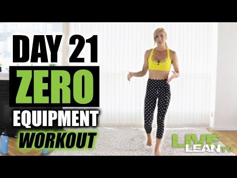 DAY 21: ZERO EQUIPMENT SHREDDING WORKOUT | Live Lean Shred Ep.21