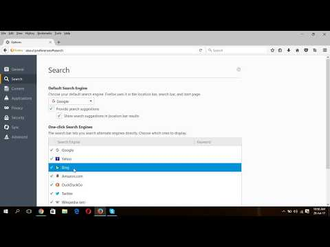 Windows 10-Change default search engine of web browser