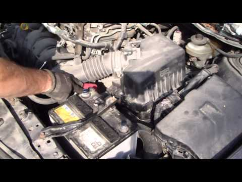 How to replace battery Toyota Corolla years 2007 to 2014