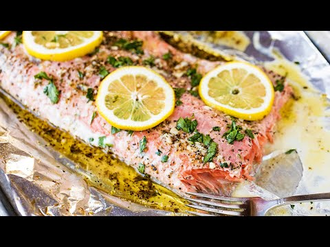 How to Make Easy Garlic Herb Baked Salmon | The Stay At Home Chef