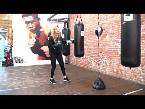 Boxing Footwork on Punching Bag