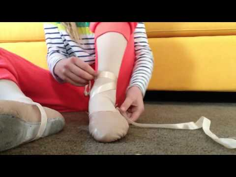 How to tie your ribbons on your ballet shoes