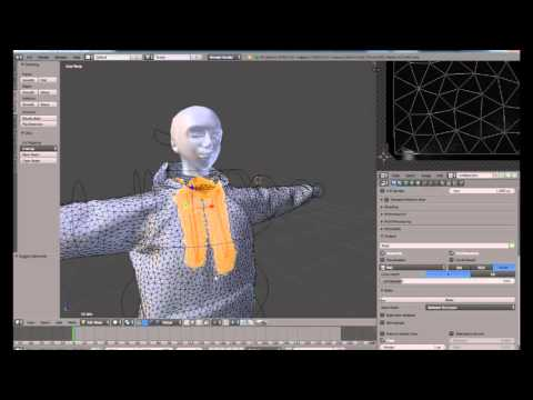 3D mesh clothe making (with blender apply second life)