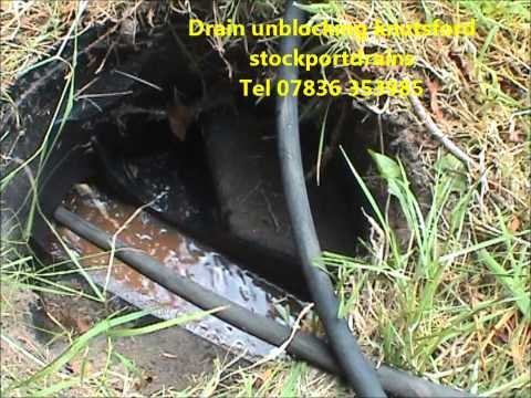 Drain jetting to unblock drain mobberly knutsford cheshire