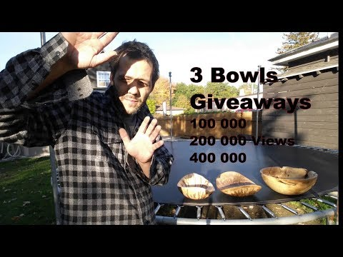 Woodturning : 3 Giveaways to Thanks All of You