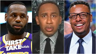 Stephen A. reacts to Paul Pierce leaving LeBron out of his top 5 list | First Take