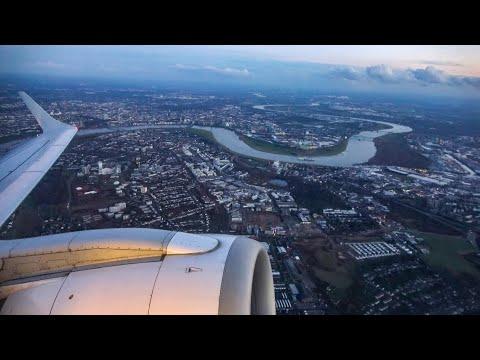 BEAUTIFUL views! Düsseldorf to Paris CDG - HOP! E-190 - FULL flight (4K)