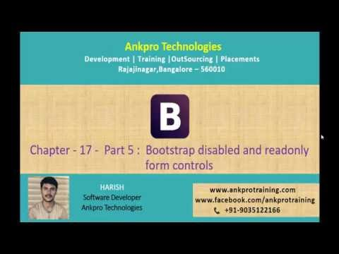 Bootstrap Chapter 17 - Bootstrap disabled and read only form controls part 5