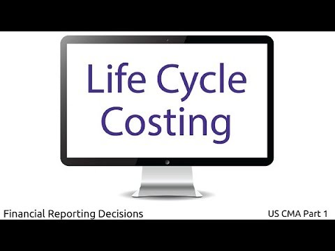 Life Cycle Costing | Financial Reporting Decisions| US CMA Part 1| US CMA course | US CMA Exam