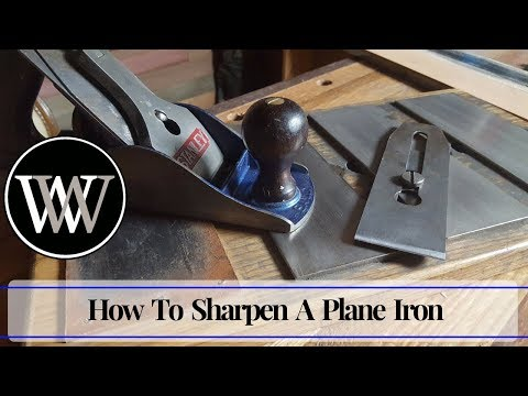 How To Sharpen a Plane Iron Freehand | Hand Tool Woodworking Skill