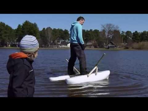 Mini Pontoon Boat Float Test