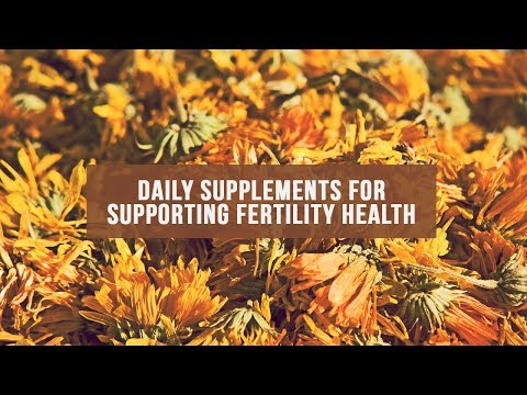 Daily Supplements for Supporting Fertility Health