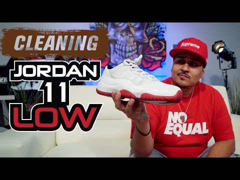 How to clean Jordan 11Low (White Mesh).