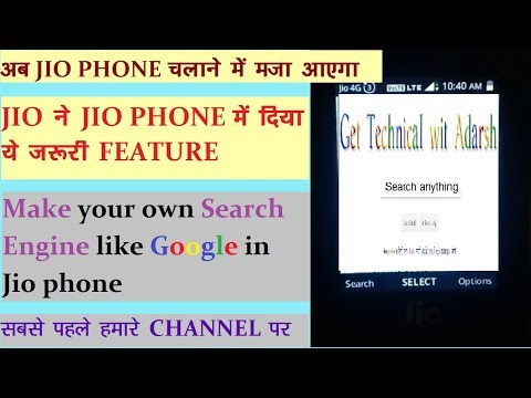 Hidden Feature of Jio Phone | Create your own Search Engine like Google || Make Doodle of your name