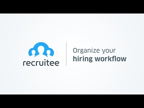 Organizing hiring workflow - Recruitee recruitment software