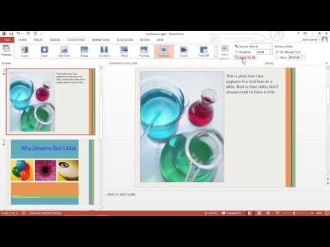 How to Add Transitions to a PowerPoint 2013 Presentation For Dummies