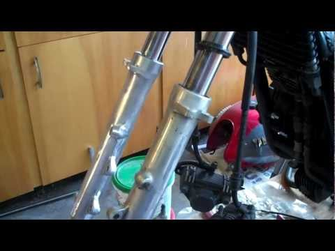 How to make motorcycle front fork tubes look shiny again