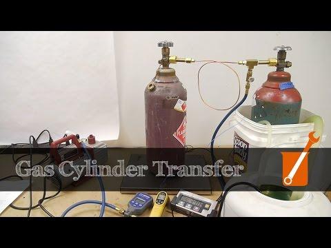 High pressure gas cylinder transfer