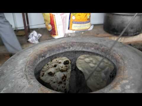 Naan Bread in the Tandoori Oven