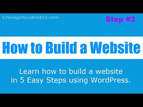 How to Build a Website: Install WordPress CMS - Step 3