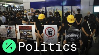 Hong Kong Protesters Hold Sit-In to Mark Brutal Mob Attack by Masked Assailants