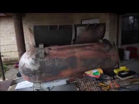 Propane tank smoker / grill trailer build Part 7