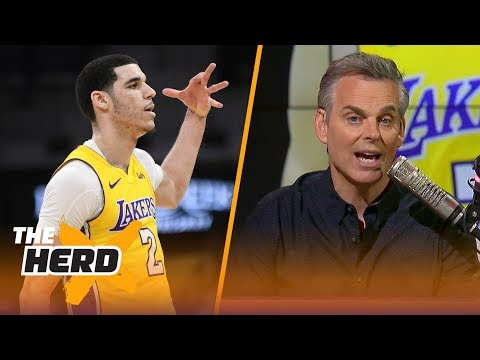 Colin Cowherd reacts to the Lakers' 8th straight win with Lonzo in the lineup   THE HERD