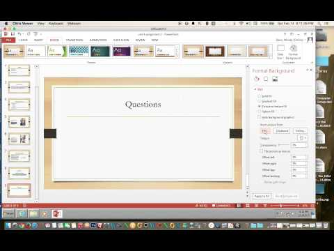 How to Format the Background of a Slide in PowerPoint