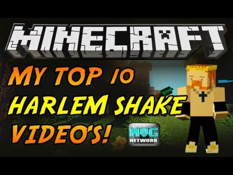 ♪ TOP 10 BEST MINECRAFT HARLEM SHAKE VIDEOS! BY KING JOJO