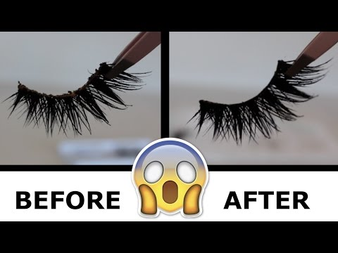 HOW TO CLEAN YOUR FAKE LASHES AND GET THEM BRAND NEW AGAIN!