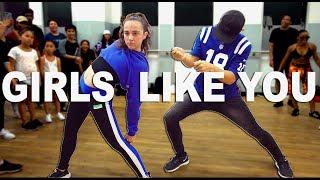 GIRLS LIKE YOU - Maroon 5 Dance || Kaycee Rice & Matt Steffanina