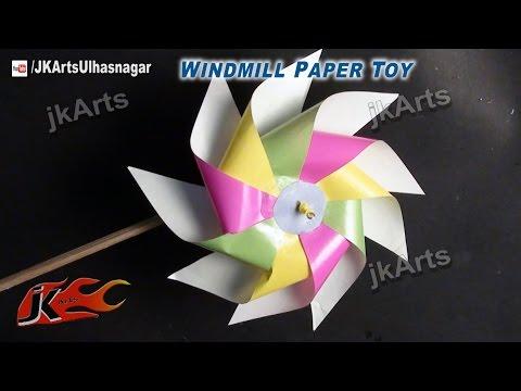 DIY How to make Paper Toy Pinwheel | Easy craft for kids | JK Arts 526