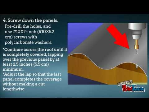 How to Install Corrugated Roof