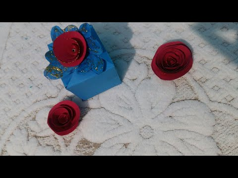 DIY EASY CRAFT-Gift box!! How to make a box with paper - gift box for birthday