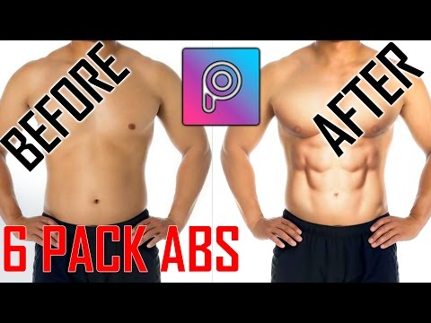 PICSART How to make Six pack abs & how to match skintone