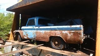 car crusher crushing cars 20 1966 gmc truck