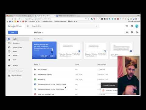 Uploading Files and Folders // Google Drive