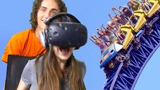 ROLLER COASTER VR PRANK! (HTC VIVE)