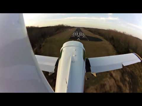 Takeoff & Landing in HD at 6x.  Winds 9 to 18 Gusts 23 (13k Xwind Component)