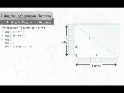 Find the Diagonal of a Rectangle