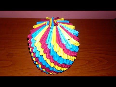 How to make a 3D Spiral Ball !!!