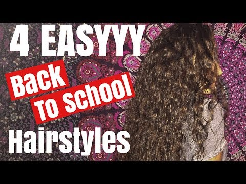 BACK TO SCHOOL HAIRSTYLES (for curly/wavy hair!)