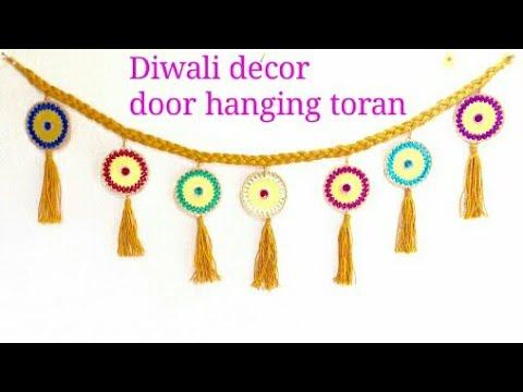 Toran Making - How to Make Door Hanging Toran at Home For Diwali Festival - art & craft studio