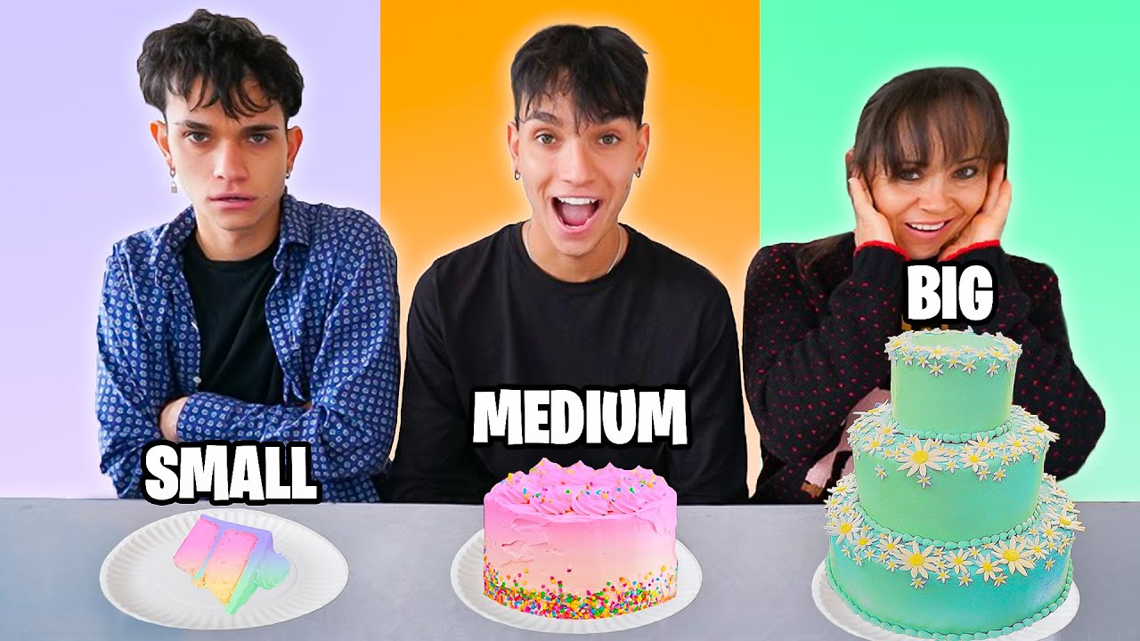 SMALL vs MEDIUM vs BIG Food Challenge! | Lucas and Marcus