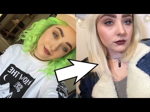 removing hair color without bleach // aaeslin