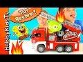 Spongebob Firetruck Bad Piggie On Fire Krabby Patty Wagon To