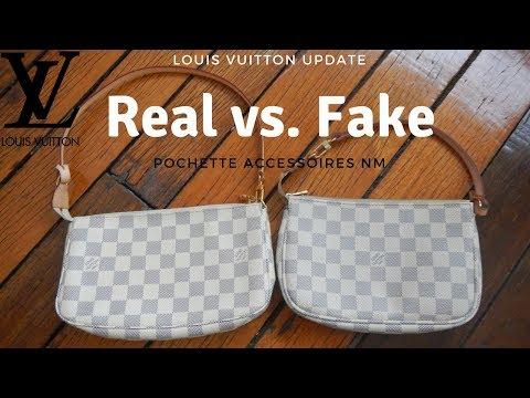 Real vs fake Louis Vuitton bag