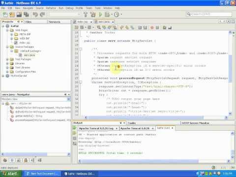 Running simple servlet using Netbeans