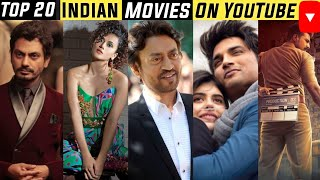 Top 20 Indian/Bollywood Movies available on Youtube