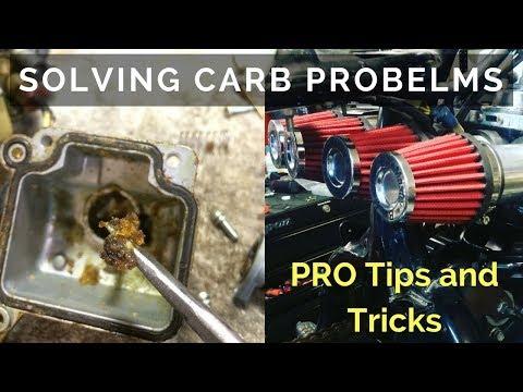 Carburetor diagnosing : Pod Filters and Dirty Carbs